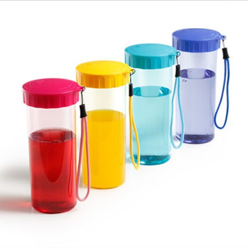 430ml Hot Sale Colorful <font><b>Plastic</b></font> <font><b>Drinking</b></font> <font><b>Cup</b></font> Portable Leakproof Water Mug Travel Supplies SH120