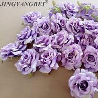10 unidades de flores rosas seda artificiales, tacón de cabeza de 10cm para joyería de boda, bricolaje, caja de regalo con corona, flores de diseño de fiesta