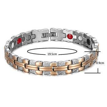 Rainso Trendy Bracelet Healing Magnetic Bracelet for Lady 4 Health Care Elements(Magnetic,FIR,Germanium,Negative ion) Hand Chain