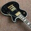 Guitar Recording Video Appreciation Custom Mahogany Black Lpcustom Electric Guitar Gold Hardware Real Photo Shows