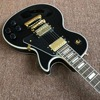 Guitar Recording Video Appreciation Custom Mahogany Black Lpcustom Electric Guitar Gold Hardware Real Photo Shows