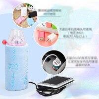 新しいコンテナストレージ食品袋ポータブル熱子供哺乳瓶ウォーマーカバーカーヒーターusb水ボトルミルク袋ウォーマ