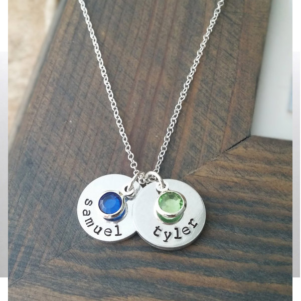 Personalized Family Necklace Necklace with Kids Names and ...