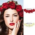 1PCS Lady Girl Floral Flower Festival Wedding Garland Forehead Hair Head Band Headbands Hair Accessories Headwear