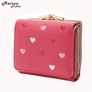 Fashion Wallets Purses Short Women Card Hold Fabre Hot Colors Cute Maison Large-Capacity