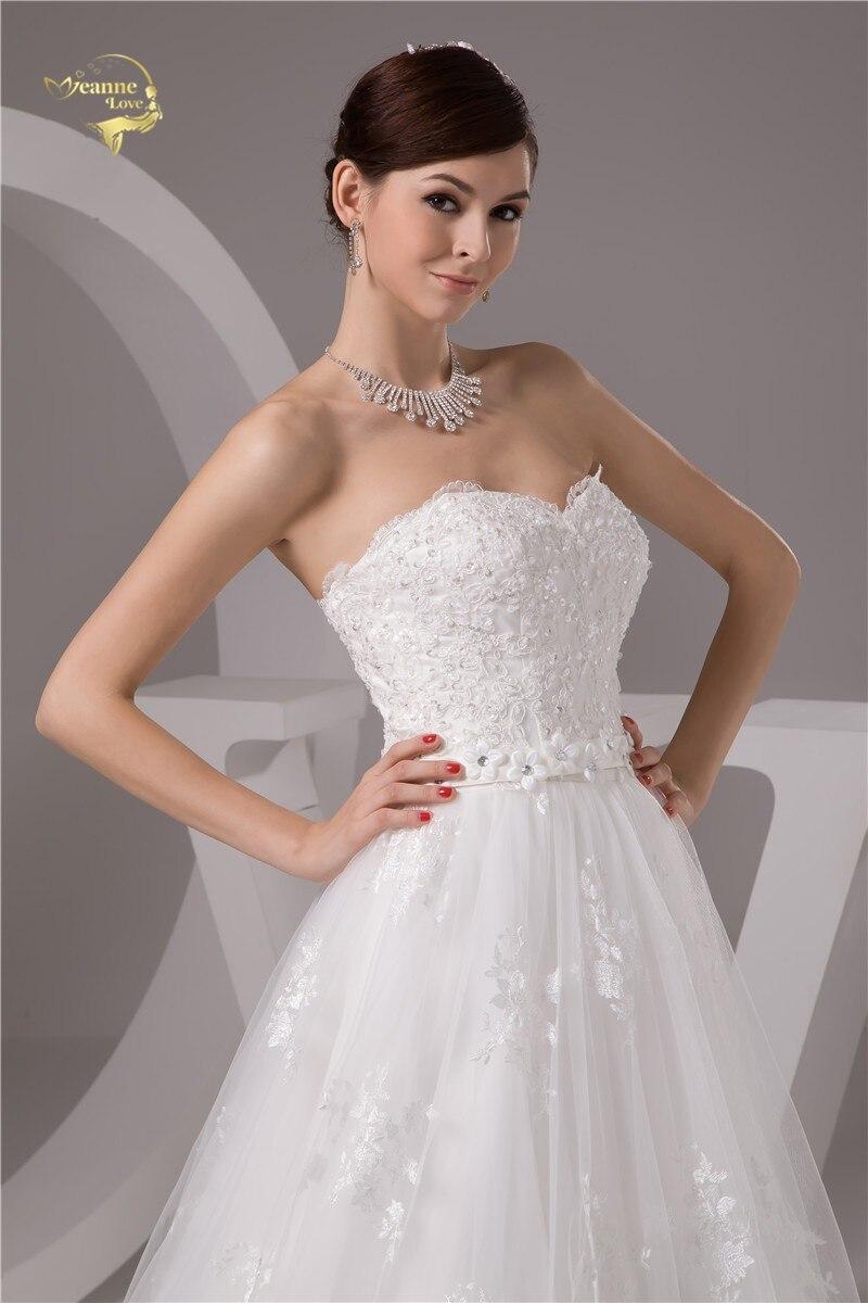 2016 White / Ivory de lux Vestido De Noiva Robe De Mariage Mireasa A - Rochii de mireasa - Fotografie 5