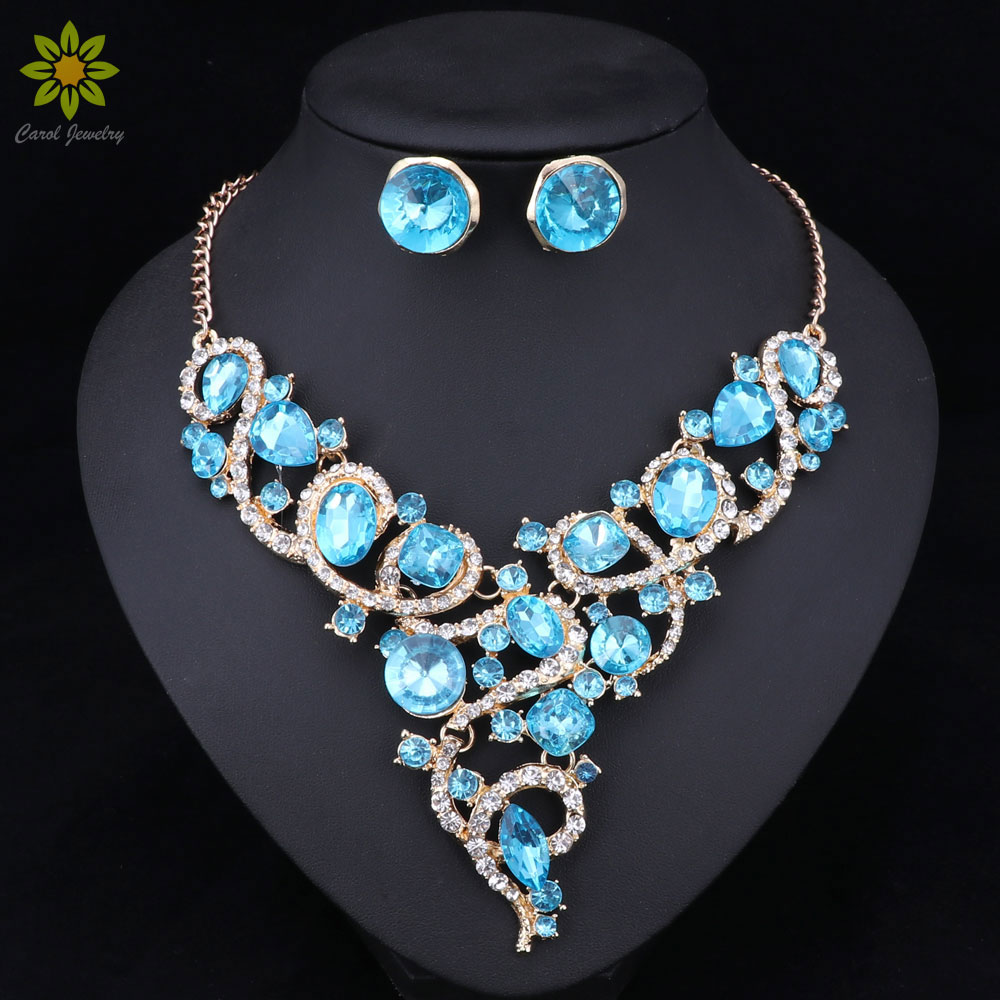 Aliexpress Com Buy New Fashion Necklace Earrings Bridal: Aliexpress.com : Buy Fashion Brand Jewelry Sets Gold Color
