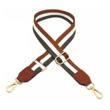 Handbag Strap Nylon Striped Woven Strap for Women Crossbody Shoulder Bag Handbag Adjustable Brown Belt Bag Accessories 125cm