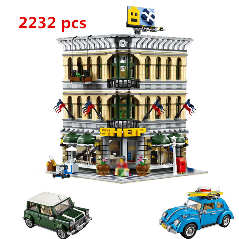 LEPIN 15005 City Grand Emporium Model Building Blocks Kits Brick Toy T1 21003 21002 Compatible LegoINGly 10220 10252 10242 10211 a toy a dream lepin 15008 2462pcs city street creator green grocer model building kits blocks bricks compatible 10185