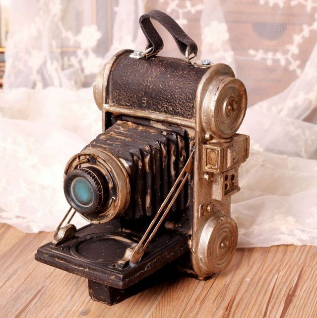 Retro Camera Vintage Home Decor Resin Crafts Antique Home Decoration  Accessories 14*11*8.5