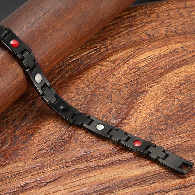 Мужские модные черные браслеты welmag с титановым браслетом