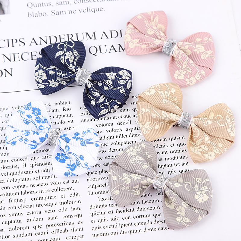 1PCS Novelty Trumpetflower Elastic Hair Bands Girls Ribbon Clip Bow Girl Hair Tie Rope Hairpin Handmade Fashion Hair Accessories
