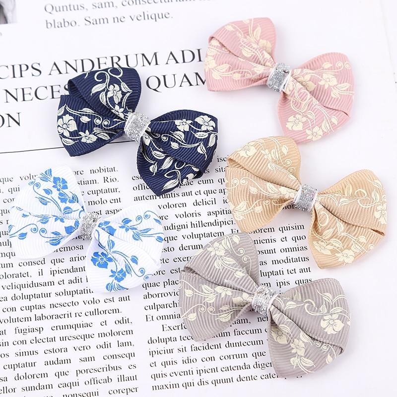 1PCS Novelty Trumpetflower Elastic Hair Bands Girls Ribbon Clip Bow Girl Hair Tie Rope Hairpin Handmade Fashion Hair Accessories