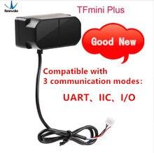 Benewake tfmini mais módulo de lidar, ip65 micro único ponto tof curto distância sensor lidar compatível com ambos uart iic i/o