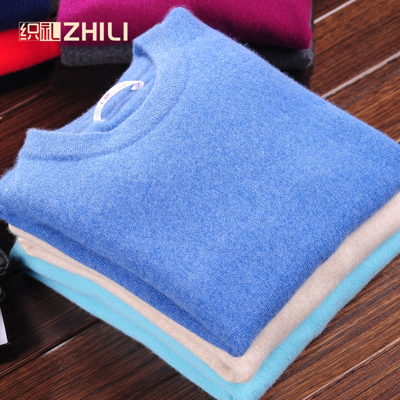 Men's Winter O-Neck Business Cashmere Blend Sweater Knitted Pullover Autumn Casual&Fashion Soft Long Sleeve Knitwear 100% Cashme