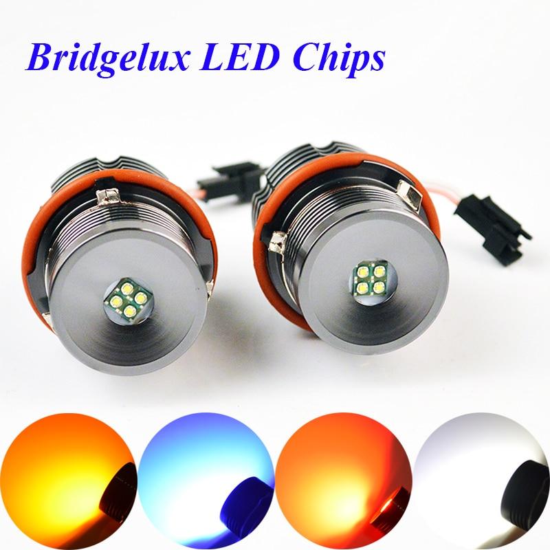 flytop LED Marker 2*20W 40W 1 Set CREE LED Chips/Bridgelux Angel Eyes White/Red/Blue/Yellow for BMW E65E87E39E53 E63 E64 E60 E61 цена