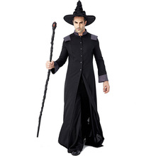 Wicked Wizard Costume Cosplay For Men Halloween Adult Suit Carniva Party Dress Up Clothing
