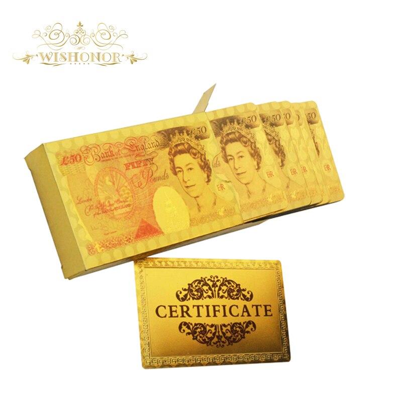 Kalėdų dovanos Spalvinga JK 50 svarų dizaino aukso žaidimo kortelės, aukso kortelės didmeninė prekyba