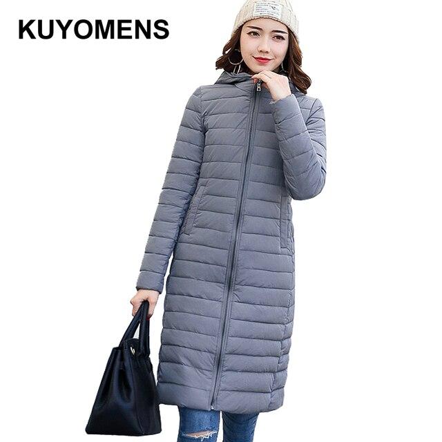 KUYOMENS Autumn Jacket Women Winter Wear High Quality Parkas Winter Jackets  Outwear Women Long Coats Women Clothes Female 2109a37ae7b5