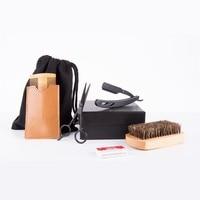 6 Pc/set Men's Beard Brush Comb Kit Boar Bristles Mustache Shaving Brush Male Facial Hair Brush Set Mustache Care