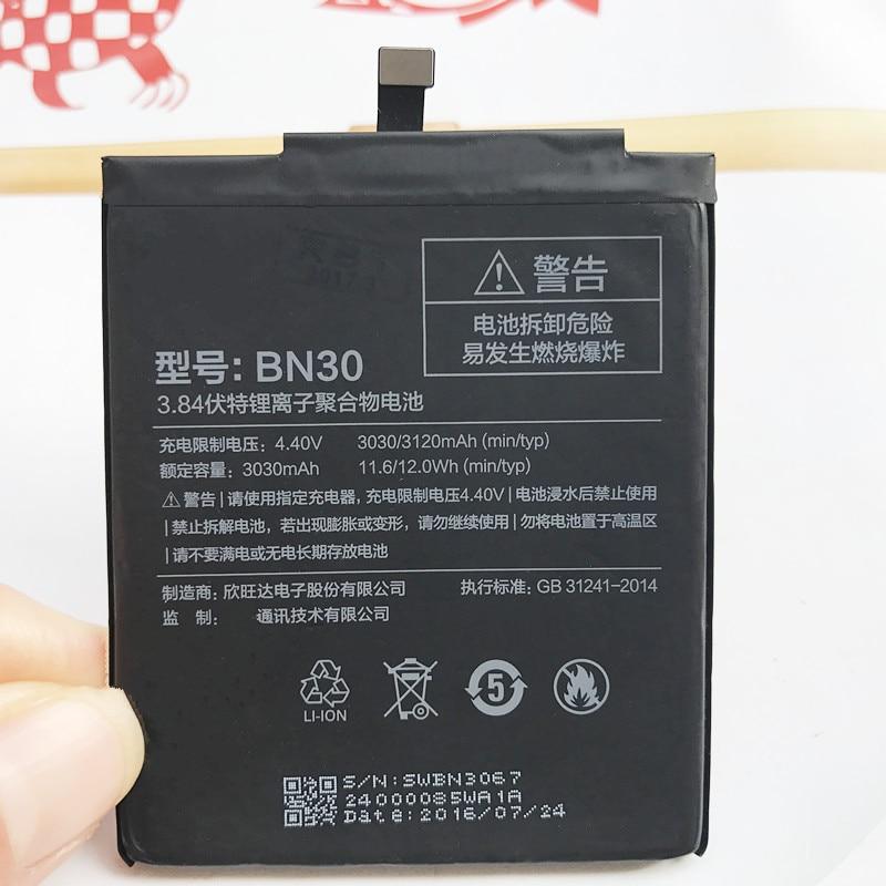 For Xiaomi Redmi 4A Battery 100% New Original Real 3120mAh BN30 Battery For Xiaomi Redrice 4A Hongmi 4A Battery