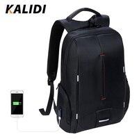 KALIDI Waterproof Men Laptop Backpack 15 6 Inch Business Travel Fashion Black Notebook Backpack School Bag