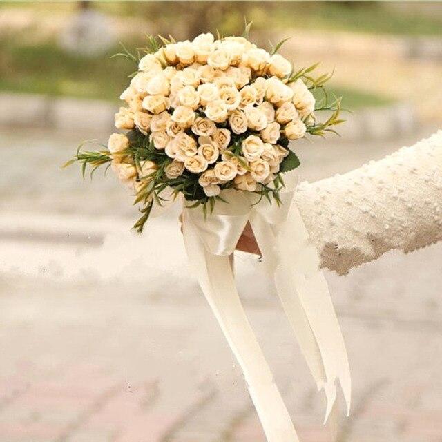 Свадебный Букет Высокое качество Кот Роуз Бросьте 18 цветы Свадебный Букет Невесты 2017 невесты Букет для свадьбы