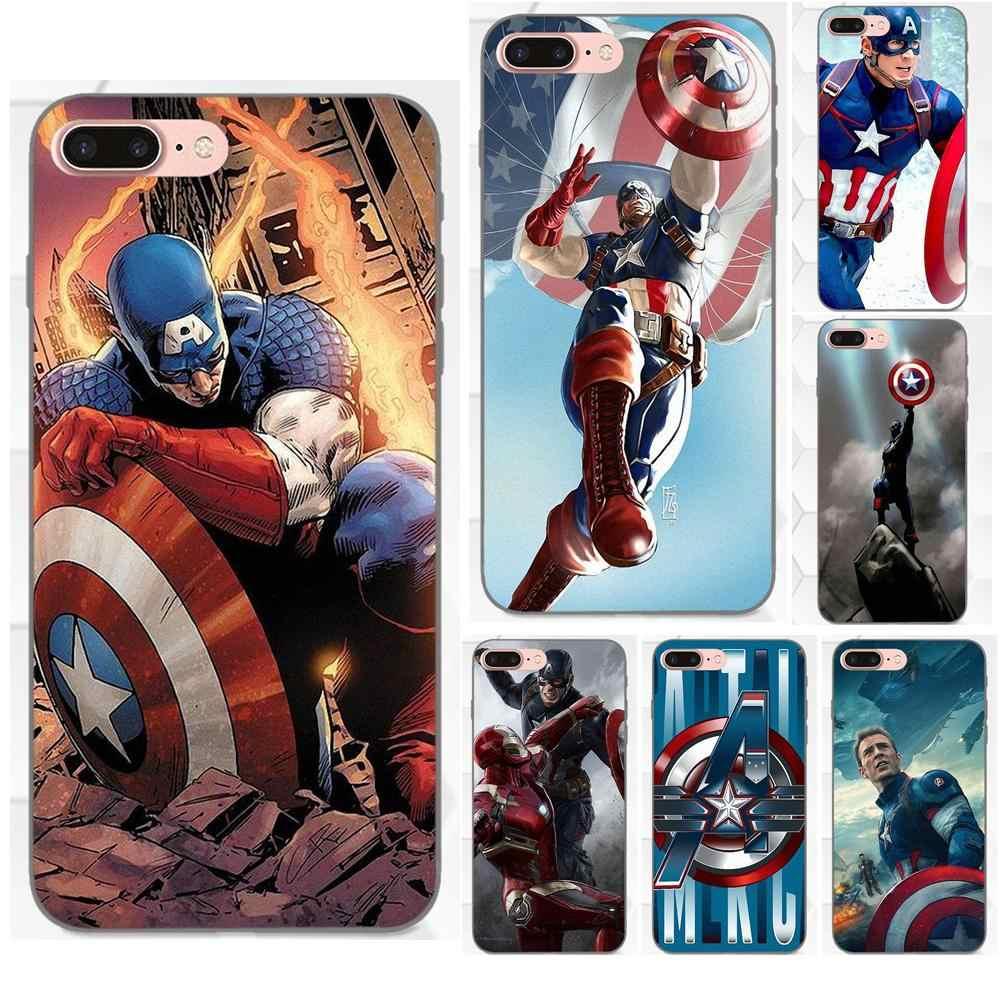 Роскошные ТПУ Резиновая чехол для телефона для Samsung Galaxy A3 A5 A6 A6s A7 A8 A9 Star Plus 2016 2017 2018 Superhero Капитан Америка