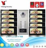 YobangSecurity Video Door Phone 7 Inch Video Doorbell Door Intercom RFID Access Control With Video Recording