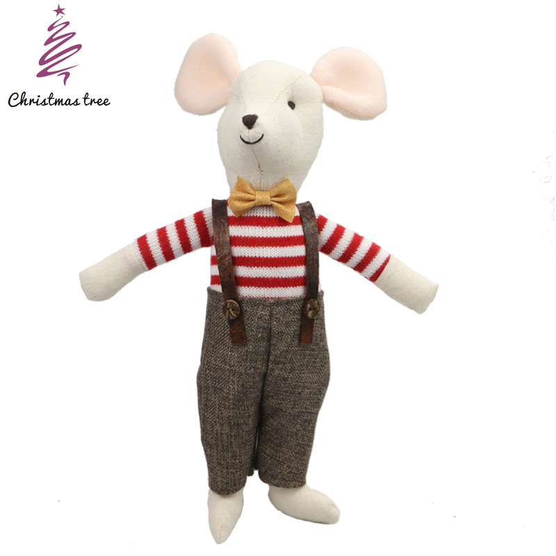 30cm soft doll christmas tree toys cartoon plush toys kawaii mouse doll year mouse gifts stuffed animals anime maileg mouse stuffed toy