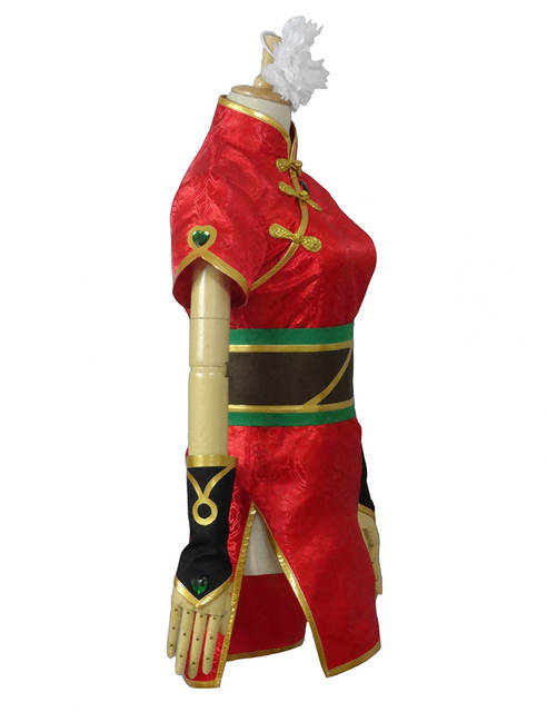 placeholder The Loose Cannon Firecracker Jinx Cosplay Costume Anime Red  Custom Made Cheongsam 92ea199b1a8a