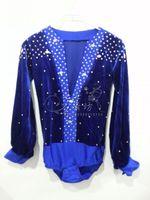 Men/Boy Performance Latin Dress V neck Tops Diamond Long Sleeve Dance Dress Ballroom Dance Competition Dresses Latin Tops Shirt