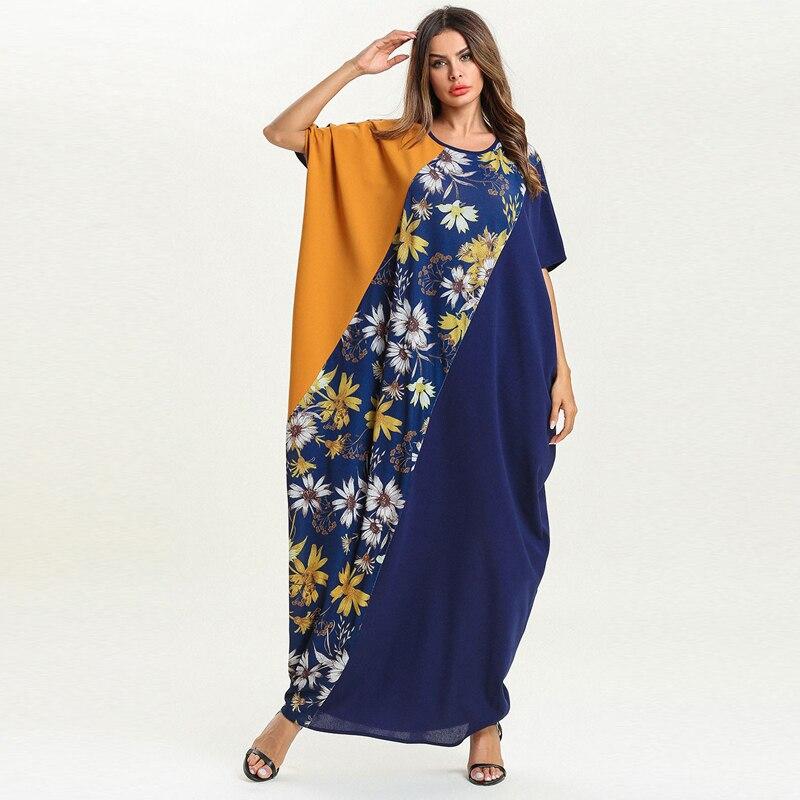 Vestidos 2019 Summer Women Wine Red Kaftan Abaya Dubai Hijab Muslim Dress Robe Ramadan Caftan Elbise Turkish Islamic Clothing