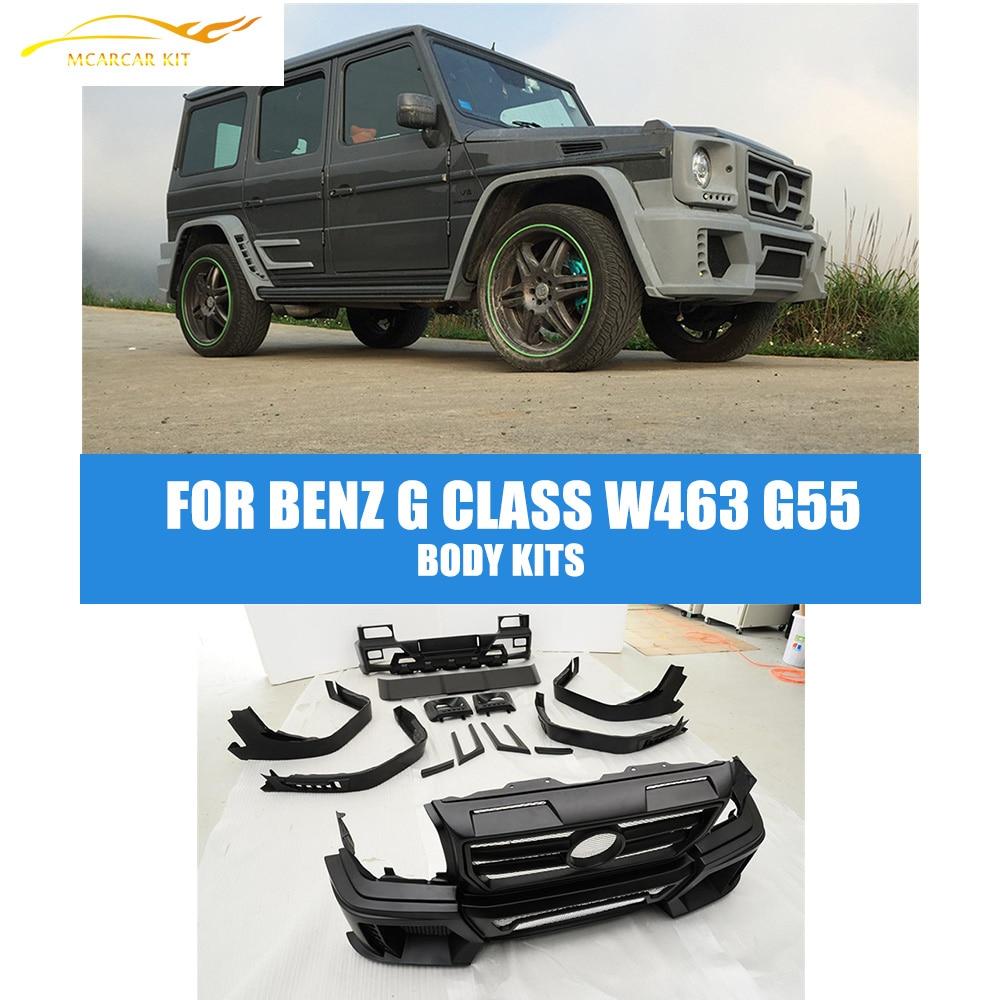 PU Full Wald Car Body Kits Bumper Guard For Benz W463 W461 G-WAGON G500 G55 G550 2007-2013 Car Accessories