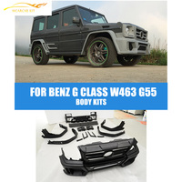 PU Full Wald Car Body Kits Bumper Guard For Benz W463 W461 G WAGON G500 G55 G550 2007 2013 Car Accessories
