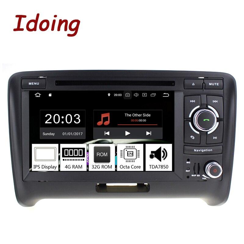 Je fais 7 2 Din Andriod 8.0 Voiture Radio VIDÉO DVD Lecteur Multimédia Pour Audi TT PX5 4 GB + 32G Huit Core IPS écran GPS Navigation
