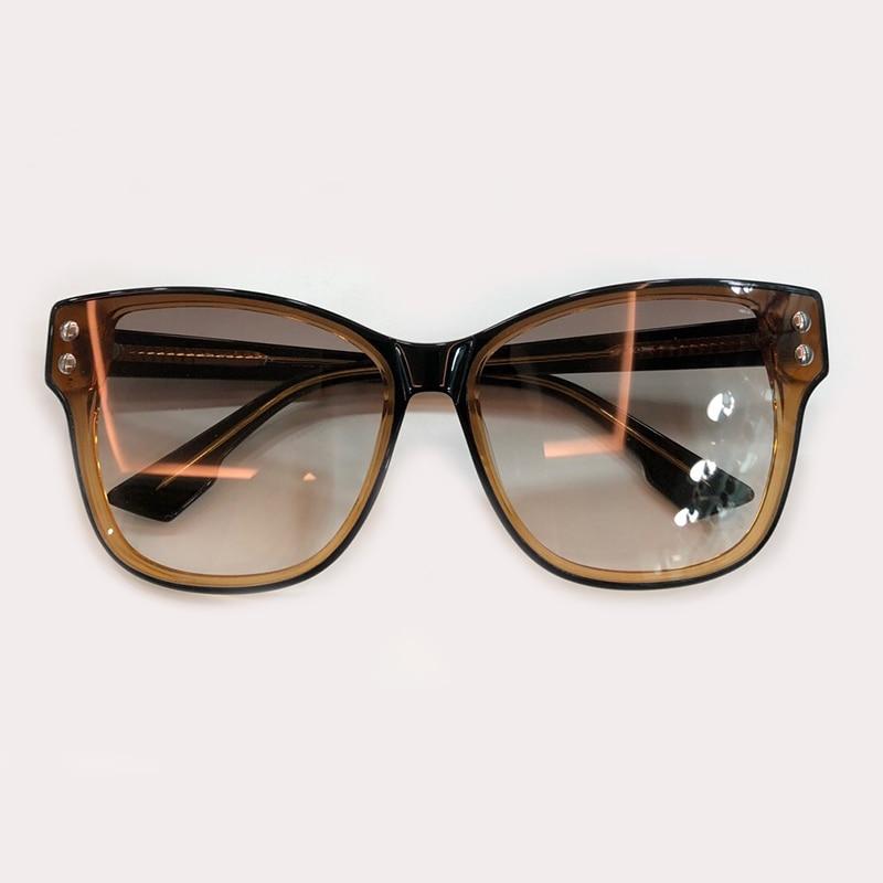 Brillen Eye Qualität Vintage no No 1 Oculos 5 Gradienten Feminino 3 4 Sol Objektiv Cat Frauen 2019 no De Sonnenbrille Retro Mode no no 2 Hohe Acetat Rahmen dPc8qIwq7