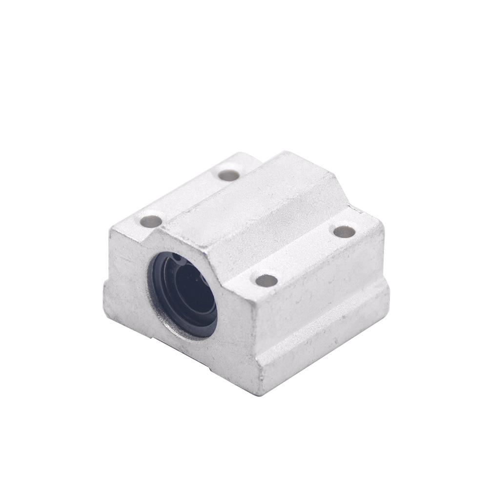 все цены на 1pc SC8UU SCS8UU 8mm SCS6UU SCS10UU SCS12UU Linear Ball Bearing Block CNC Router Linear Unit Linear Shaft CNC 3D printer parts онлайн