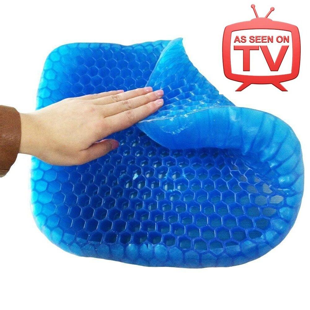 Silicon Gel Chair Cushion Cool Down Seat Cushions Egg Honeycomb Sitter 3d Pillow Wheelchair Cushion Memory Coussin Drive Cushion