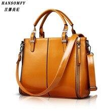HNSF 100% Genuine leather Women handbags 2017 New Fashion Handbag Brown Women Bag Vintage Messenger Bag Office Ladie Briefcase