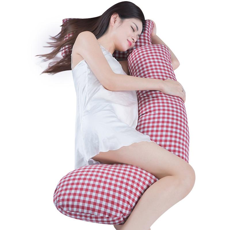 Oreiller de soutien de sommeil respectueux de la peau pour les femmes enceintes