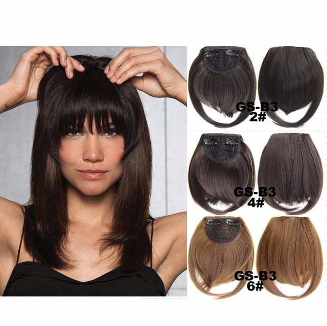 Clip In Fringe Blunt Bangs Cute And Easy Hairstyles for Short Hair ...