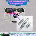 Coche cromo del ABS de la carrocería trasera de vidrio limpiaparabrisas boquilla de lavado marco ajuste de la ventana de la cola 1 unids para Tiggo3 Chery Tiggo 3 2014 2015 2016