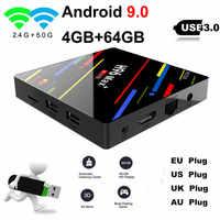 H96 MAX Plus Smart TV Box Android 9.0 TVBox 4GB Ram 32 GB/64 GB Rom Rockchip RK3328 4K H.265 USB3.0 2.4Ghz WiFi IP TV décodeur