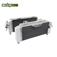 BIKINGBOY 1 Pair Aluminium Core MX Offroad Engine Radiators Water Cooler Cooling For Kawasaki KX 250