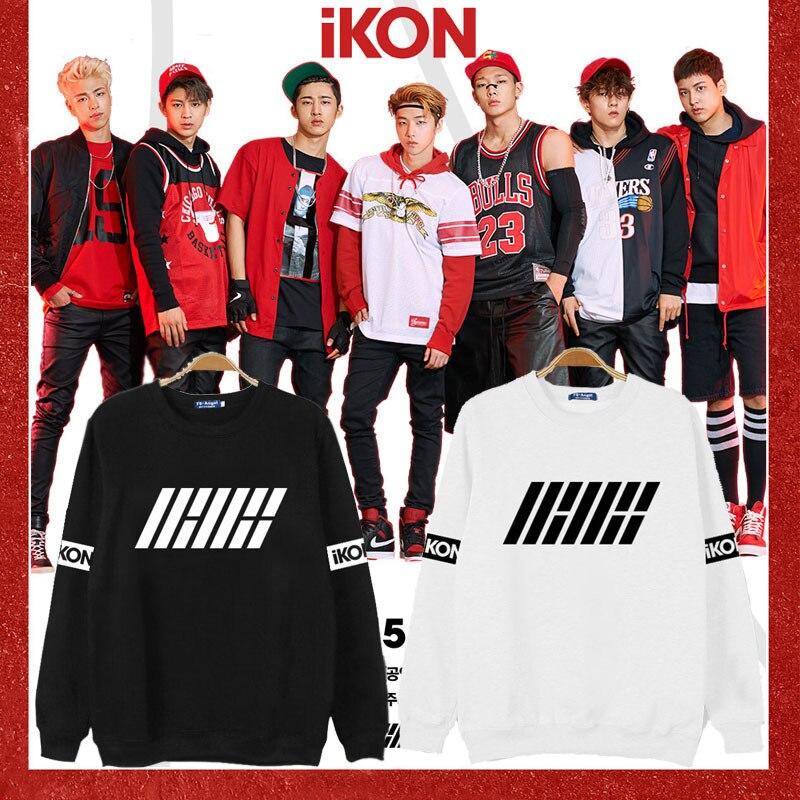 Women's Clothing K-pop Ikon Released The Same Album B.i Kim Hanbin Bobby Jin Zhiyuan With The Same Style Sweatshirts Kpop Soft And Antislippery