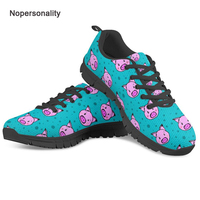 Nopersonality Women Lightweight Shoes Cute Pet Pig Print Flat Walking Shoes Breathable Female Ladies Spring Mesh Sneakers