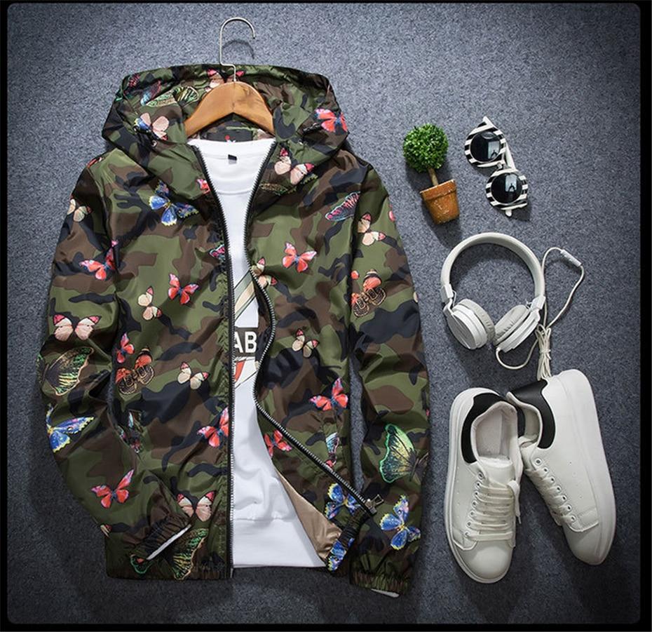 HTB11HDHdi6guuRkSnb4q6zu4XXav Mens Casual Camouflage Hoodie Jacket 2018 New Autumn Butterfly Print Clothes Men's Hooded Windbreaker Coat Male Outwear WS505