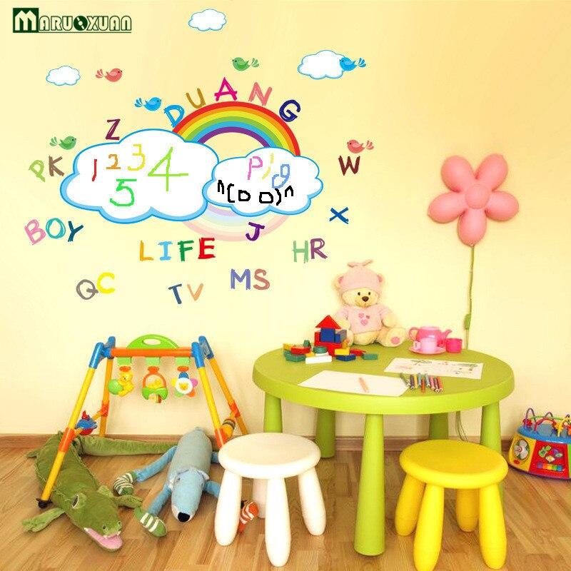 Maruoxuan Cartoon Rainbow White Board Wall Sticker Diy Family ...