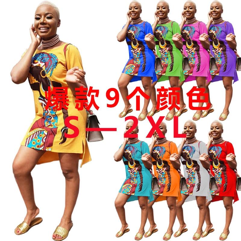New Style Classic African Women's Dress Dashiki Fashion Printed Long Shirt Dress
